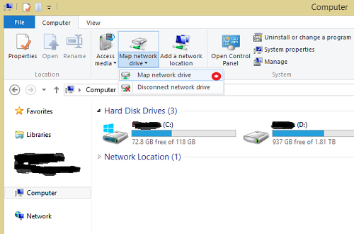 Mapping Skydrive Folder on Surface RT and Windows RT