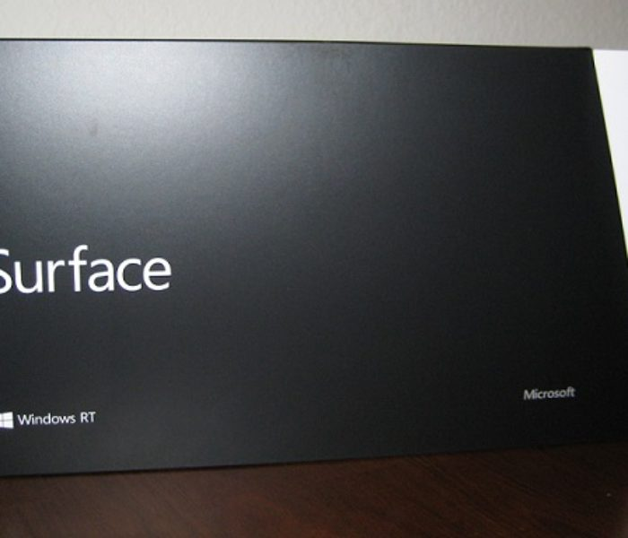 First Impression of Microsoft's Surface RT without Touch Cover