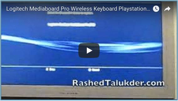 Logitech mediaboard pro wireless keyboard ps3